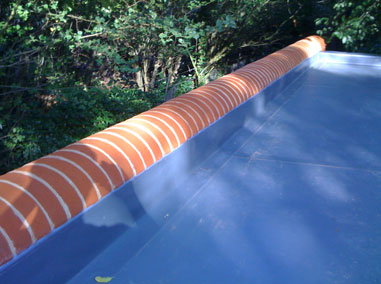 flat roofing on a house