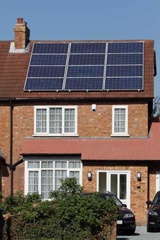 House with solar panels in Southampton